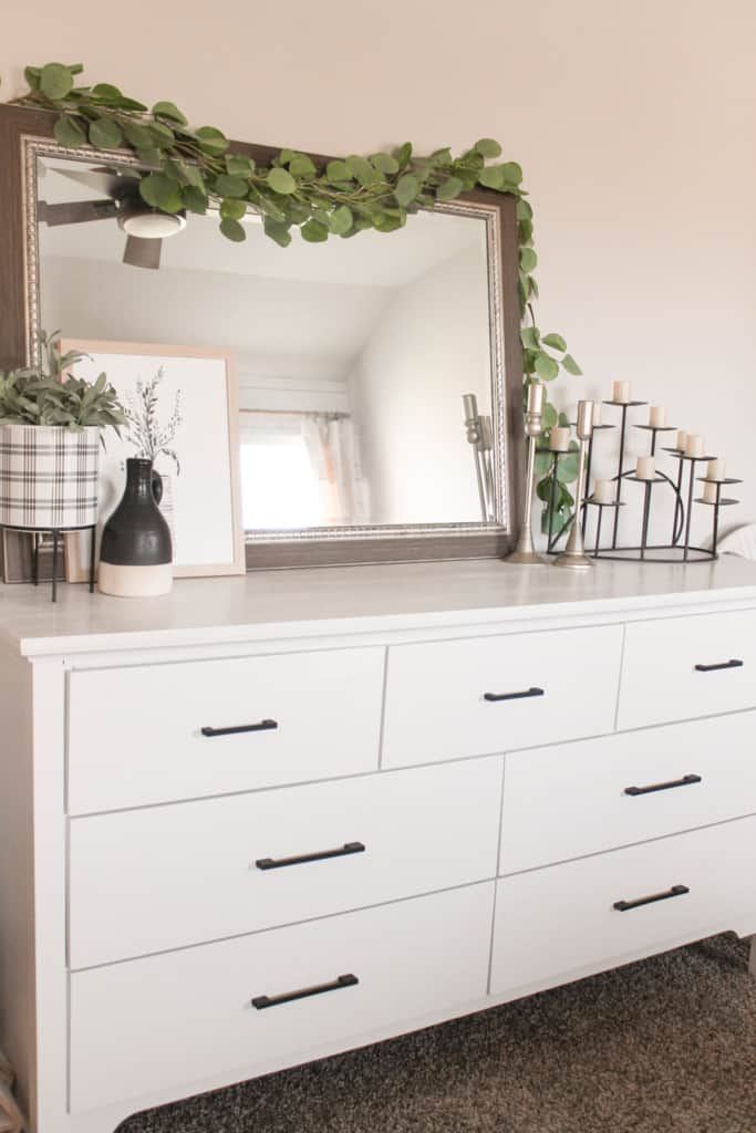 modern farmhouse bedroom makeover