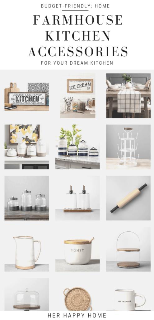 farmhouse kitchen accessories