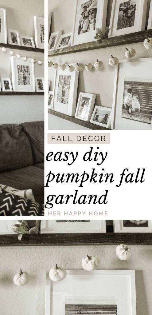 diy fall garland