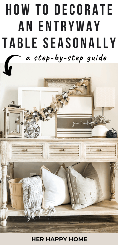 how to decorate entryway table