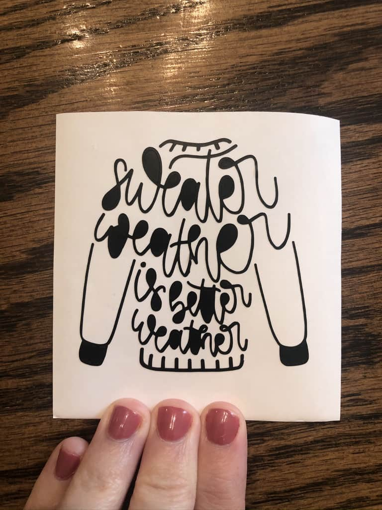easy Cricut fall project mug