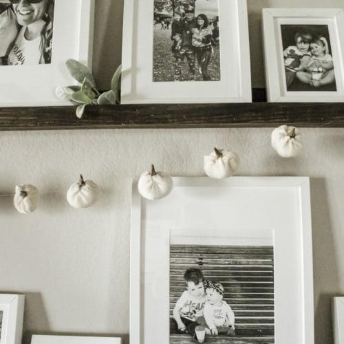 Incredibly Easy DIY Fall Pumpkin Garland