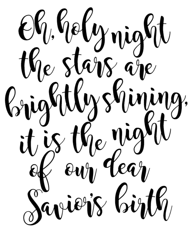 oh holy night free svg christmas file