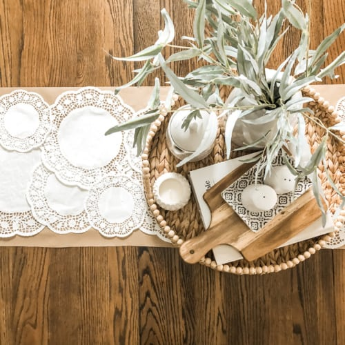 $2 Dollar Tree DIY: How to Make a Paper Doily Table Runner
