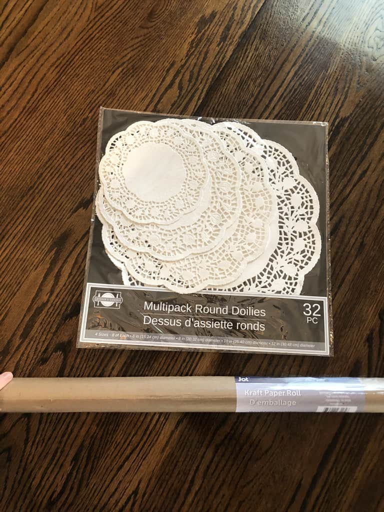 how to make a doily table runner