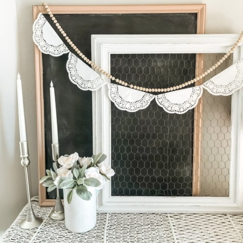 $5 DIY Chalkboard Sign: How to Turn a Thrifted Picture into Stylish Chalkboard decor