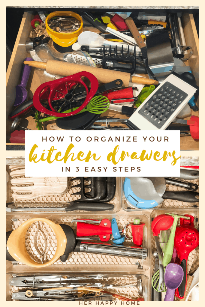 how to organize kitchen utensil drawers