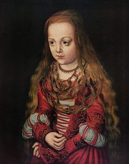Portrait of a Saxon Princess by Lucas Cranach the Elder