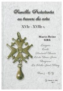 Généalogie des familles protestantes dans la Vienne et les Deux-Sèvres par Marie-Reine SIRE
