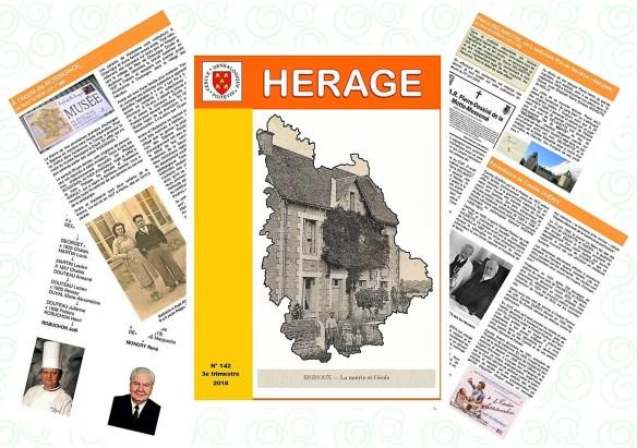 revue Herage, cercle généalogique poitevin, CGP