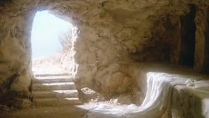 At his resurrection
