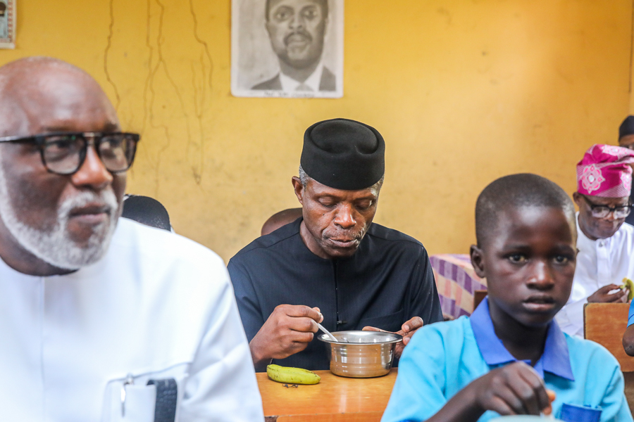Osinbajo and school feeding programme - Osinbajo unveils Liberty TV, 103.3 FM  digital studios in Abuja