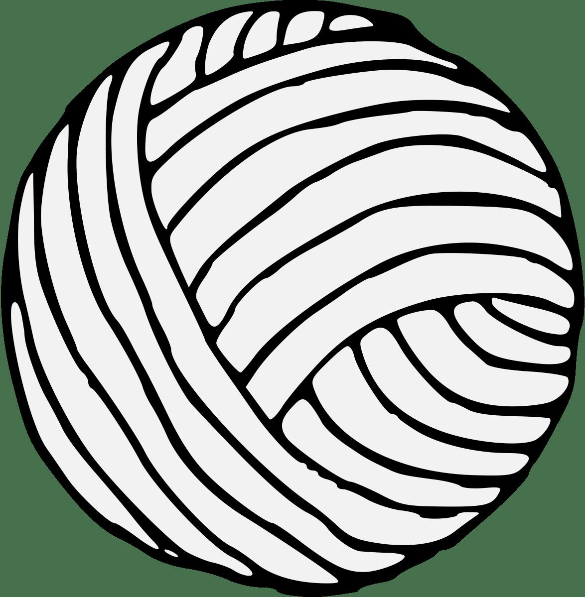 Yarn Ball Clip Art Sketch Coloring Page
