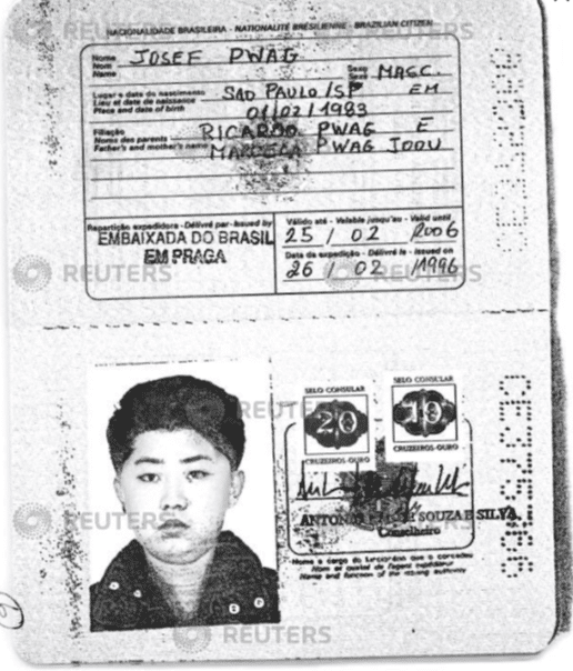 Líder norcoreano y su padre usaron pasaportes falsos