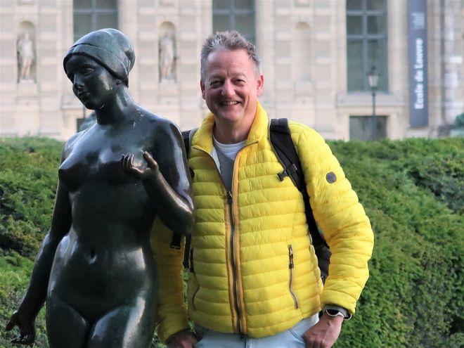 Sven im Tuileriengarten