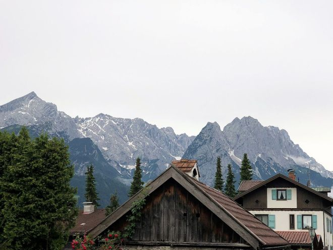 Berge von Garmisch gesehen