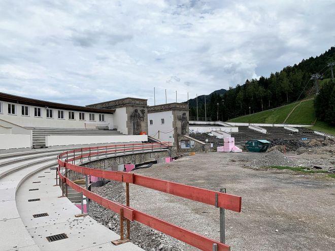 Tribünenbaustelle Stadion