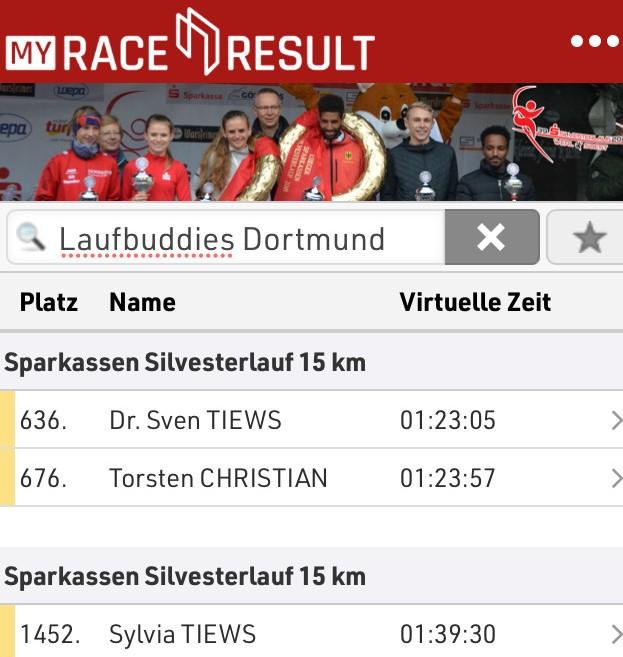 Race Results Silvesterlauf 15 km