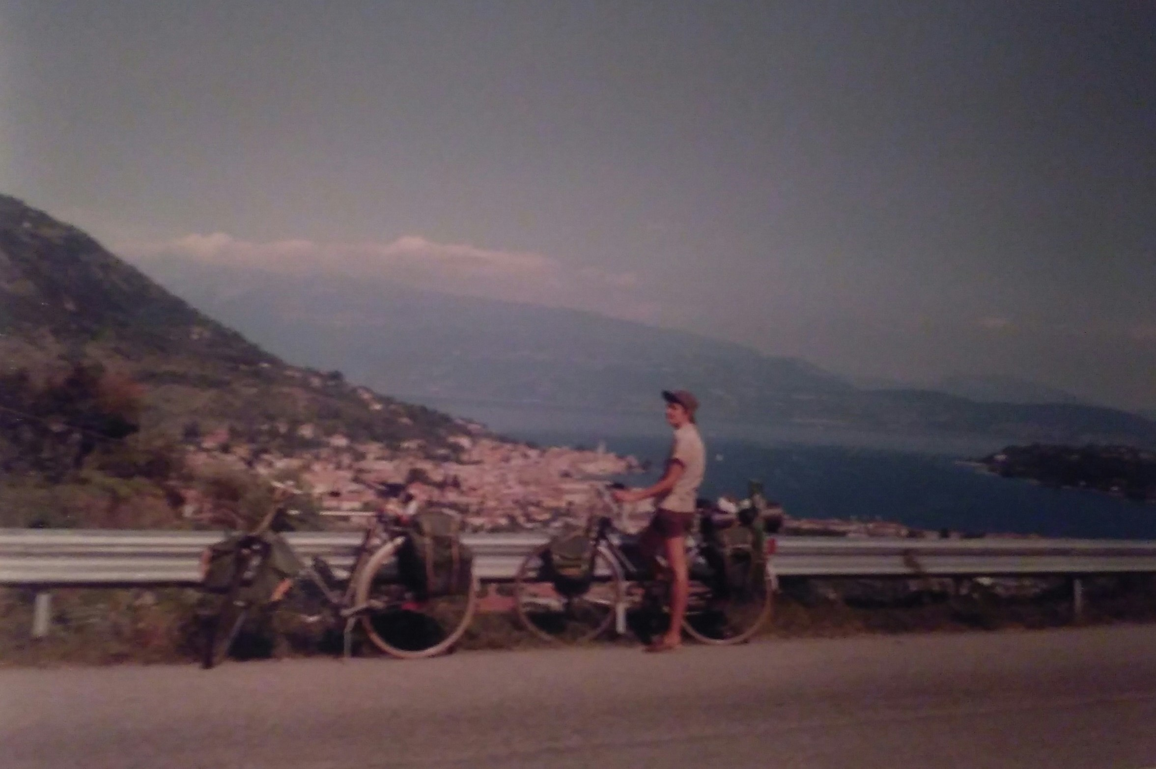 My mother on a bike trip to Italy with my father in 1982