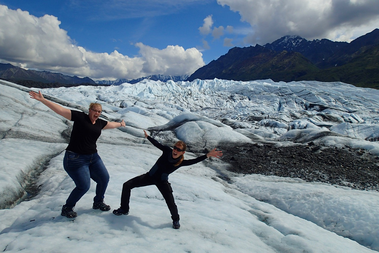 Kimberly and me on the glacier