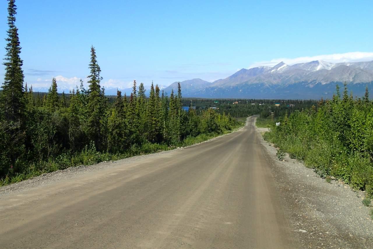Het einde van de Denali highway in zicht