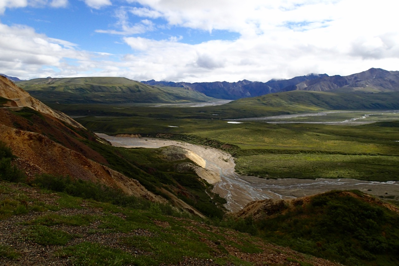 Het uitzicht vanaf 'Pretty rocks'