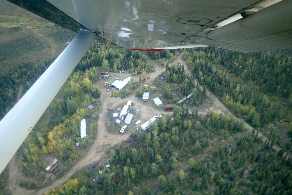 The camp seen from the airplane