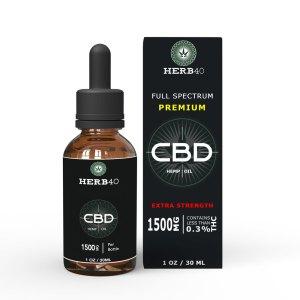 herb40 herbforty best extra strengthuk cbd 30ml 1500mg