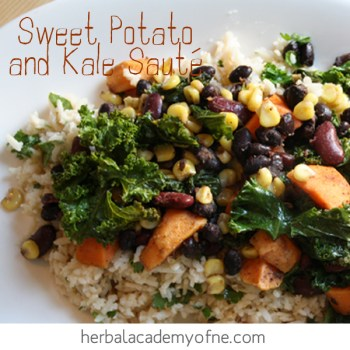 sweet potato and kale saute