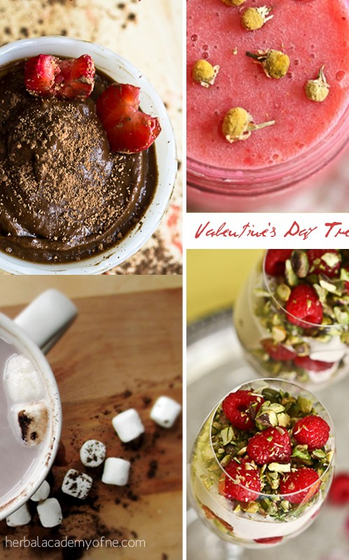 Valentine's Day Treats & Words To Love By | Herbal Academy | 6 real food recipes that will make your mouth water! These Valentine's Day Treats are the perfect romantic desserts for you and your special someone.