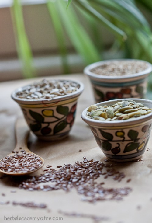 Seed Cycling For Hormonal Balance using Herbs