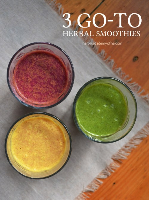 3 Go To Herbal Smoothies by HANE