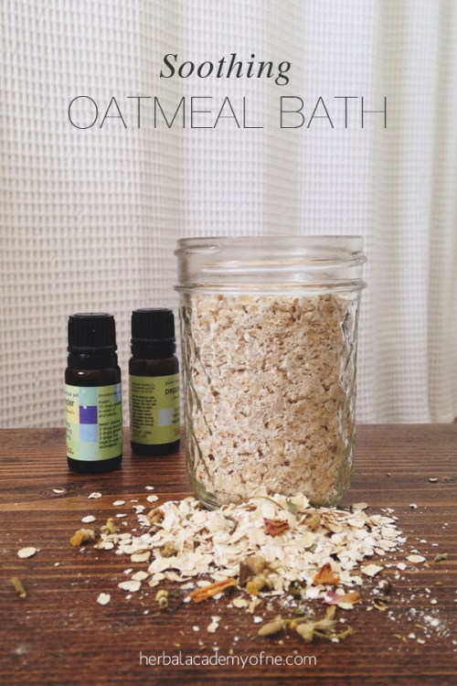Soothing Oatmeal Bath recipe from the Herbal Academy blog