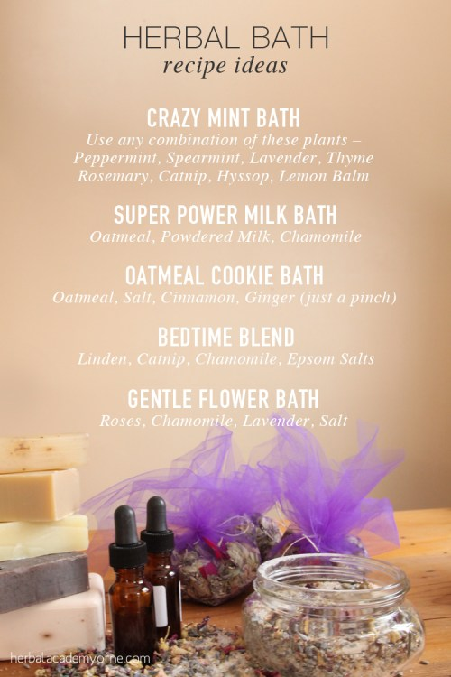 Herbal Bath Recipe Ideas to DIY