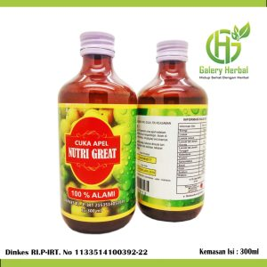 Cuka Apel Nutri Great 300ml - Pusat Herbal Semarang