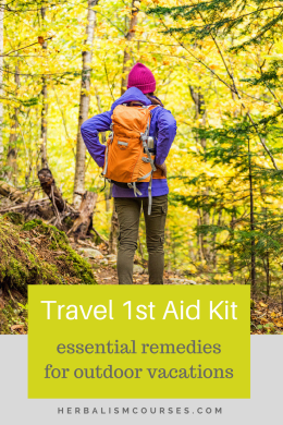 While the typical travel 1st aid kit on the market comes equipped with a few pharmaceutical remedies, there simply aren't equivalents for herbal remedies for trips. #firstaid #1staid #kits #herbalism #herbal #remedies #travel #medicine #natural #health #trips