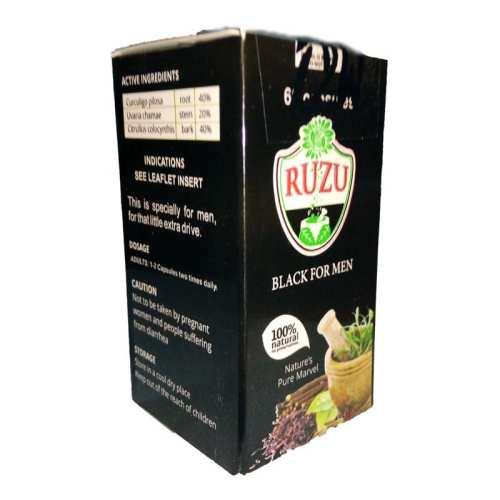 RUZU BLACK FOR MEN CAPSULE - 60 Capsule