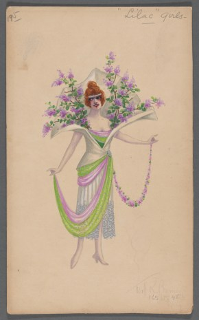 Lilac Girl. 1920s Costume design by Will R. Barnes.  Image Credit: New York Public Library.