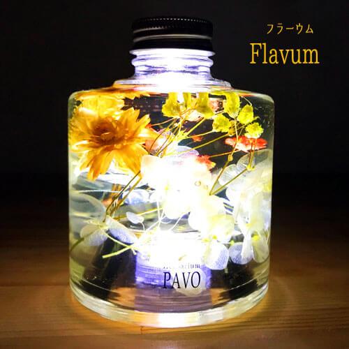 ハーバリウムランプ FLAVUM LEDライトハーバリウム 側面画像