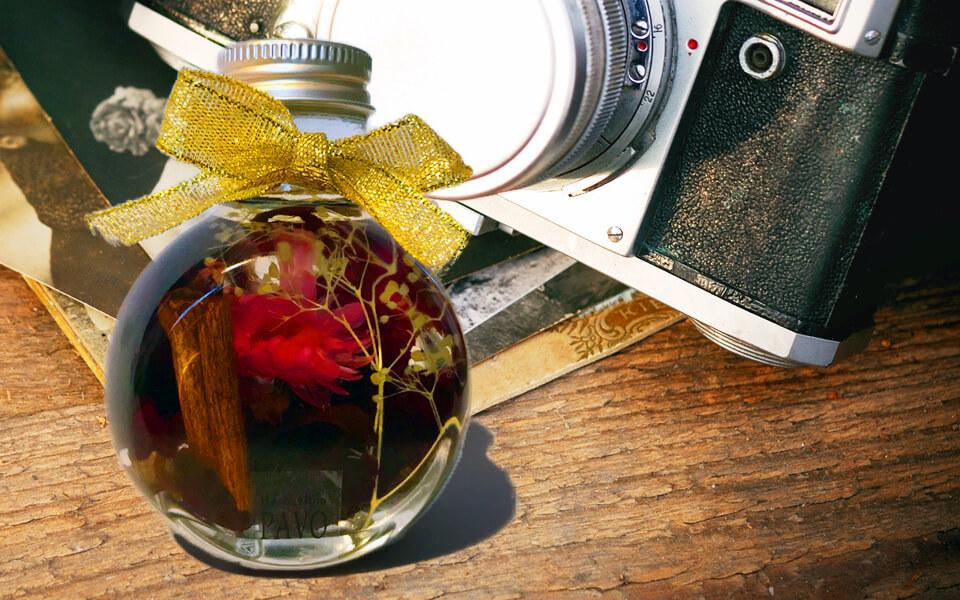 PAVOハーバリウム ななめ瓶ハーバリウムボトル色彩鮮やかなインスタ映え
