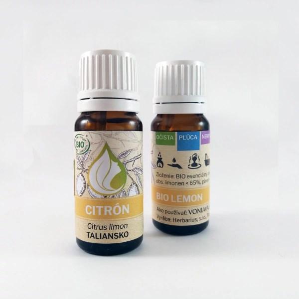 Organický CITRÓN, esenciálny olej
