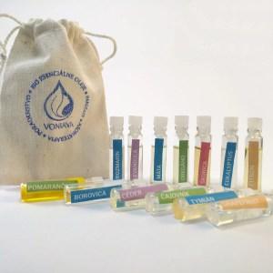 Vzorkovník organických esenciálnych olejov Voniava 13x1ml