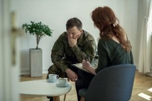 Sad Soldies with PTSD