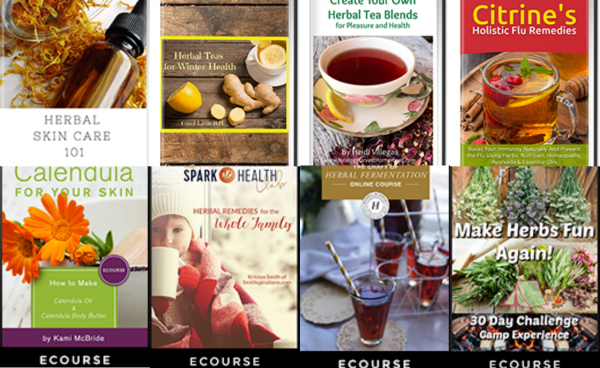 Herbal ebooks and courses that are part of the 2017 Ultimate Healthy Living Bundle