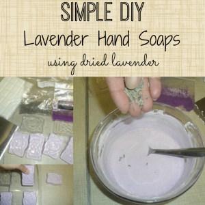 Simple DIY Lavender Soaps tutorial