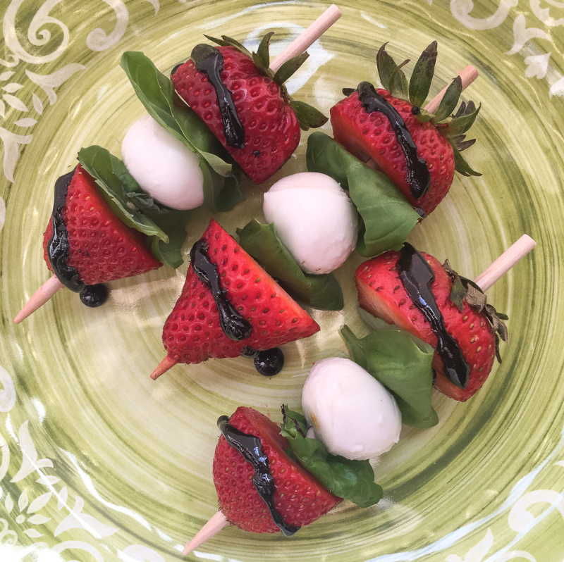 Recipe: Strawberry Caprese Skewers with Balsamic Glaze