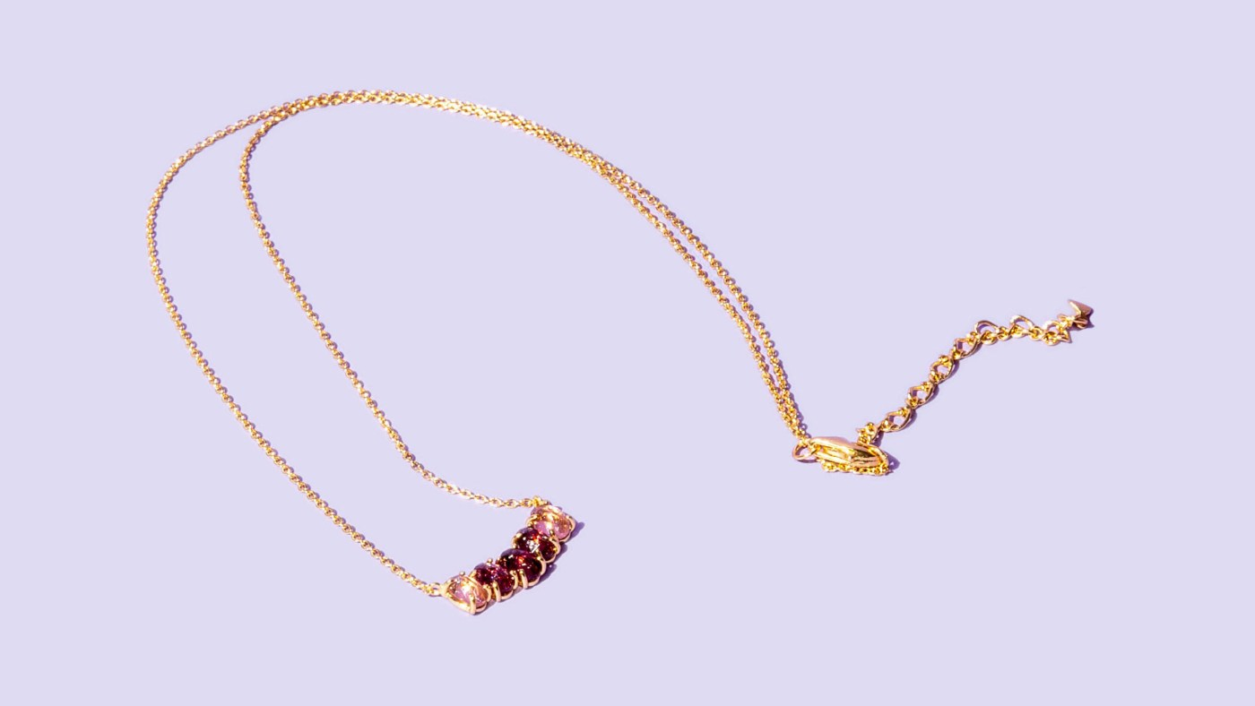 Amethyst Gold Necklace Tai Jewelry
