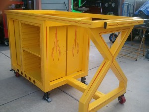 Workbench-striping  Special Pinstriping & Sign Painting Projects by Herb Martinez, Livermore, CA. Serving the San Francisco Bay area.