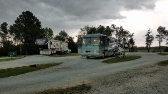 Our site at dusk