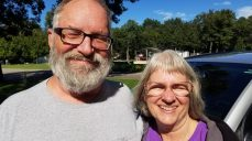 Larry and Darlene, met at RV Rally Vermont July '16 Came to visit us in Baldwin July '17